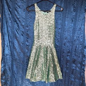 Sparkly Blue Party Dress
